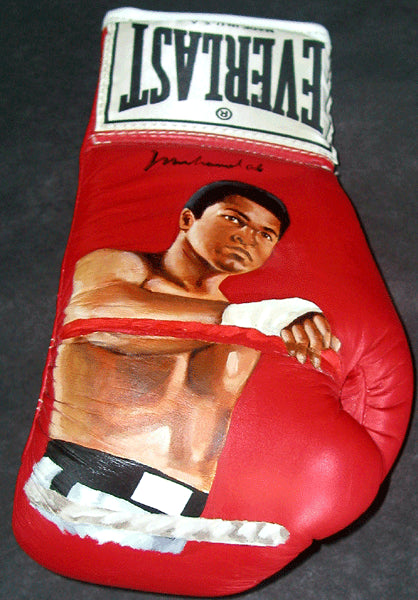 ALI, MUHAMMAD SIGNED HAND PAINTED GLOVE