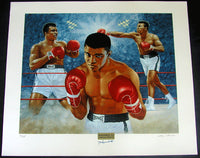ALI, MUHAMMAD SIGNED LITHOGRAPH