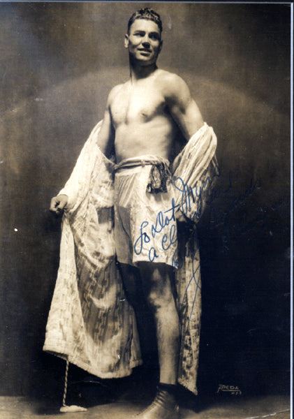 DEMPSEY, JACK VINTAGE SIGNED PHOTO (FAMOUS POSE)