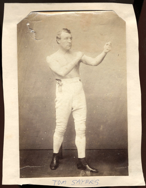SAYERS, TOM ORIGINAL ANTIQUE PHOTO (BY NEWBOLD)