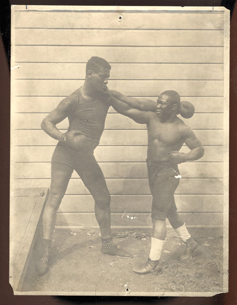 WILLS, HARRY & BARBADOS JOE WALCOTT ANTIQUE PHOTO