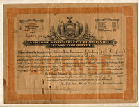 DEMPSEY, JACK NEW YORK BOXING LICENSE (1922-AS CHAMPION)