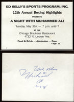 ALI, MUHAMMAD SIGNED CHARITY TICKET (1988)