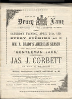 CORBETT, JAMES J, THEATRE PROGRAM