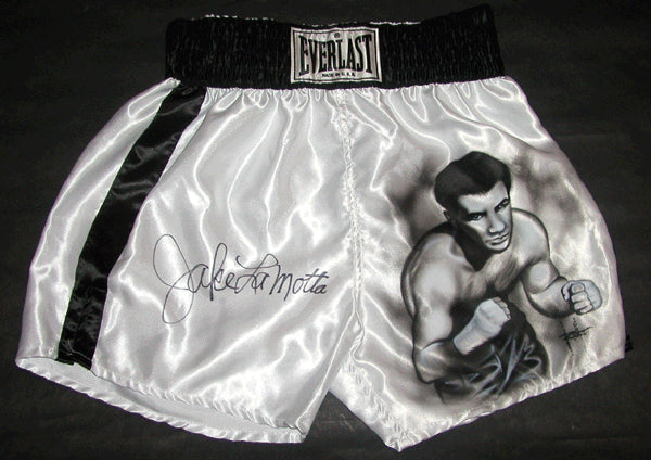LAMOTTA, JAKE SIGNED HAND PAINTED TRUNKS