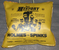 HOLMES, LARRY-MICHAEL SPINKS I SOUVENIR SEAT CUSHION (1985)