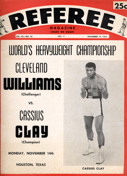 ALI, MUHAMMAD-CLEVELAND WILLIAMS SOUVENIR PROGRAM (1966)