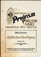 GANS, JOE-BATTLING NELSON REPRODUCTION PROGRAM (1906 FIGHT)
