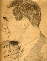 SCHMELING, MAX ORIGINAL CHARCOAL DRAWING (1937-SIGNED BY SCHMELING)