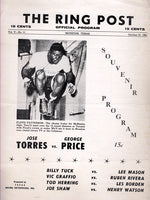 TORRES, JOSE-GEORGE PRICE OFFICIAL PROGRAM (1961)