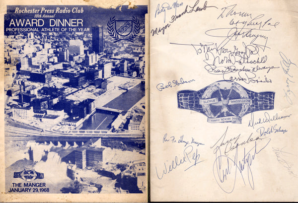 1968 HICKOK ATHLETE OF YEAR SIGNED PROGRAM (DEMPSEY, BASILIO, PEP)