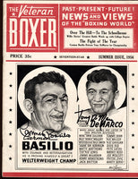 BASILIO, CARMEN & TONY DEMARCO SIGNED MAGAZINE