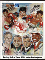 BOXING HALL OF FAME PROGRAM (2001-SIGNED BY RAMOS, CHAGRIN, GALLO & OTHERS)