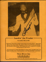 FRAZIER, JOE SIGNED SHOW FLYER