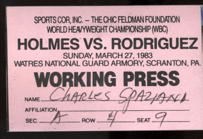 HOLMES, LARRY-LUCIEN RODRIGUEZ PRESS PASS (1983)