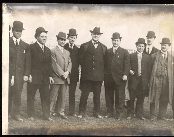 MCGOVERN, TERRY & ABE ATTELL & OTHERS ORIGINAL ANTIQUE PHOTO
