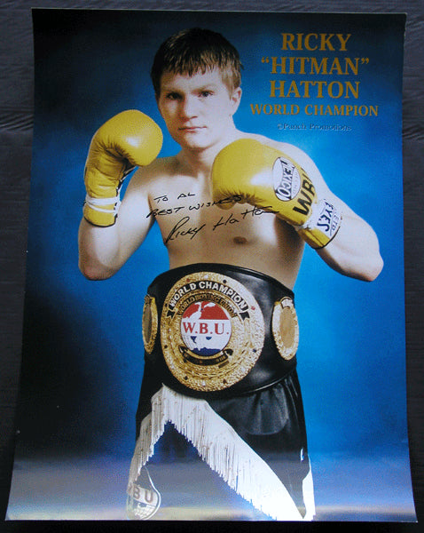 HATTON, RICKEY WORLD CHAMPION SIGNED POSTER (AL GAVIN COLLECTION)