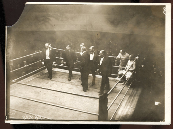 VETERAN FIGHTERS IN THE RING ANTIQUE PHOTO (1914-INCLUDING CHARLEY MITCHELL)