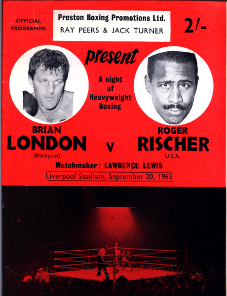 LONDON, BRIAN-ROGER RISCHER OFFICIAL PROGRAM (1965)