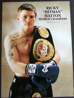 HATTON, RICKEY SIGNED POSTER (TO TRAINER AL GAVIN)