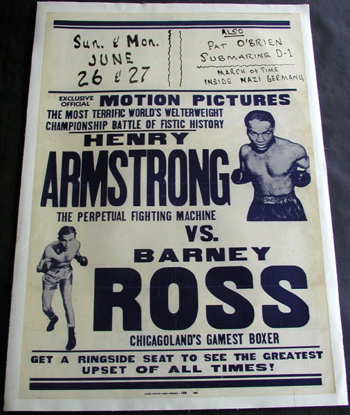 ARMSTRONG, HENRY-BARNEY ROSS FIGHT FILM POSTER (1938)
