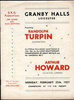 TURPIN, RANDY-ARTHUR HOWARD OFFICIAL PROGRAM (1957-ORIGINAL DATE)
