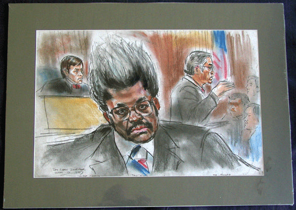 KING, DON ORIGINAL COURTROOM SKETCH BY IDA LIBBY DENGROVE (1985)