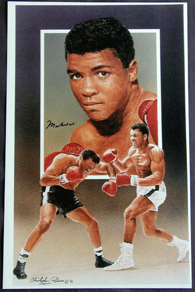 ALI, MUHAMMAD SIGNED LITHO BY CHRISTOPHER PALUSO (1990)