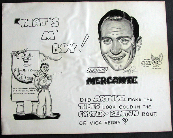 MERCANTE, ARTHUR ORIGINAL CARTOON ARTWORK (1963)