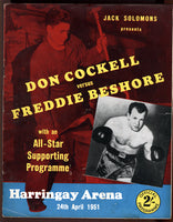 COCKELL, DON-FREDDIE BESHORE OFFICIAL PROGRAM (1951)