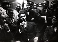 ALI, MUHAMMAD LARGE FORMAT PHOTO BY BINGHAM (1964-MUSLIM RALLY)