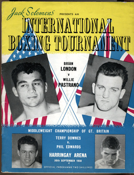 LONDON, BRIAN-WILLIE PASTRANO OFFICIAL PROGRAM (1958)