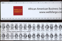 BLACK HISTORY ADVERTISING RULER WITH 40 NOTABLE AFRICAN AMERICANS (WITH MUHAMMAD ALI)