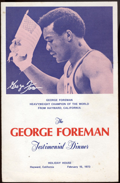 FOREMAN, GEORGE TESTIMONIAL DINNER PROGRAM (1973-AS CHAMPION)
