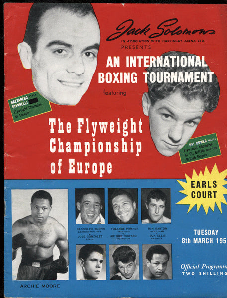 TURPIN, RANDY-JOSE GONZALEZ & HENRY COOPER-HIGH FERNS OFFICIAL PROGRAM (1955)