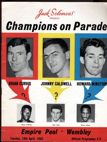 CALDWELL, JOHNNY-FREDERICO SCARPONI OFFICIAL PROGRAM (1962)