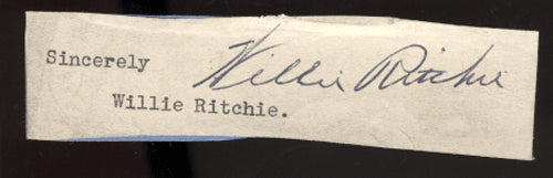 RITCHIE, WILLIE INK SIGNATURE