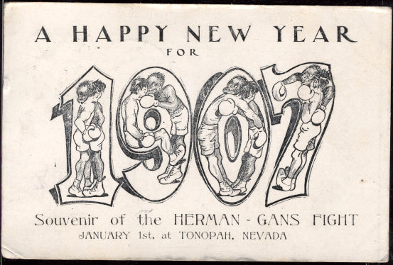 GANS, JOE-KID HERMAN ORIGINAL POSTCARD (1907)
