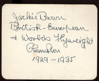 BROWN, JACKIE INK SIGNATURE