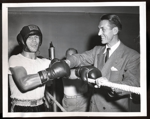 CARPENTIER, GEORGES & TONY ZALE WIRE PHOTO