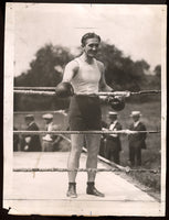 CARPENTIER, GEORGES ORIGINAL WIRE PHOTO (1921-TRAINING)
