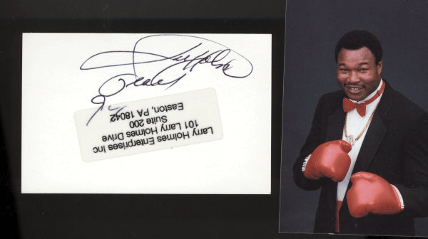 Holmes,Larry Signed Card