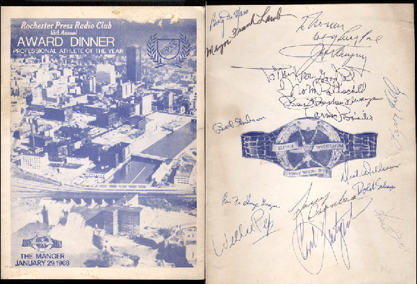 1969 HICKOK AWARD PROGRAM (SIGNED BY DEMPSEY, BROCK, BASILIO & MORE)