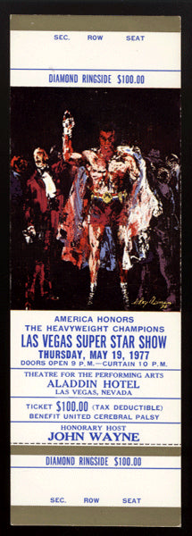 ALI, LOUIS, SCHMELING & OTHERS NIGHT OF HEAVYWEIGHT CHAMPIONS FULL TICKET (1977)