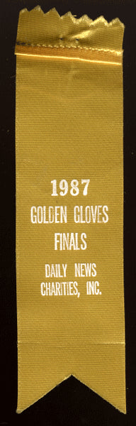1987 DAILY NEWS GOLDEN GLOVES RIBBON