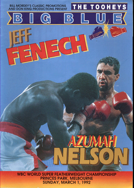 NELSON, AZUMAH-JEFF FENECH OFFICIAL PROGRAM (1992)