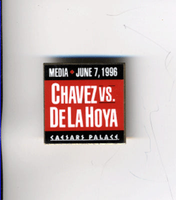 DE LA HOYA, OSCAR-JULIO CESAR CHAVEZ I PRESS PIN (1996)