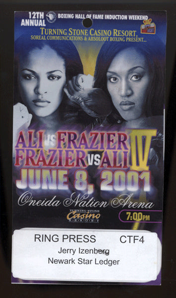ALI, LAILA-JACQUI FRAZIER PRESS CREDENTIAL (2001)