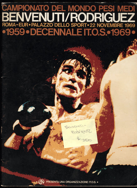 BENVENUTI, NINO-LUIS RODRIGUEZ OFFICIAL PROGRAM (1969)