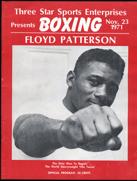 PATTERSON, FLOYD-CHARLIE HARRIS OFFICIAL PROGRAM (1971)
